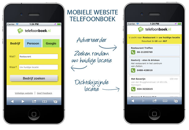 Mobiele-website-telefoonboek