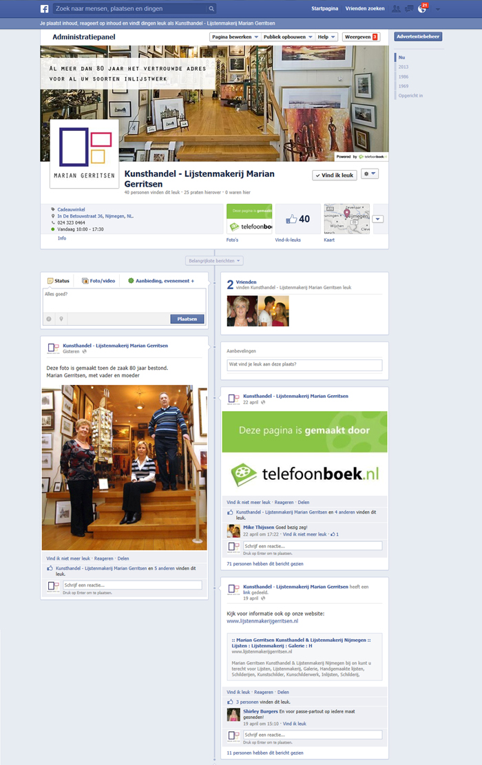 Facebookpagina marian gerritsen