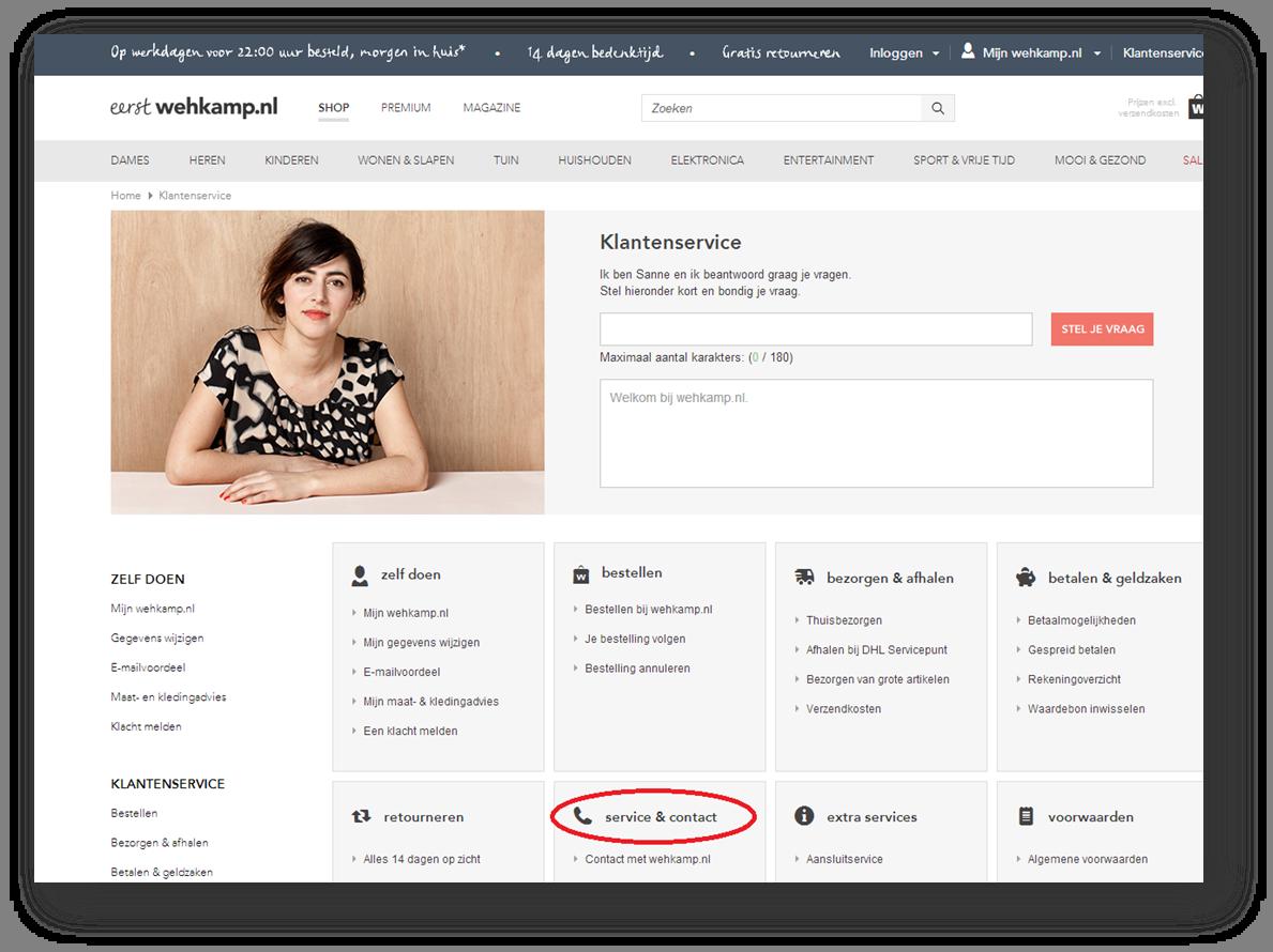 klantenservice online
