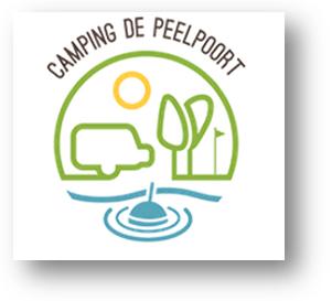 Het logo van Camping de Peelpoort.
