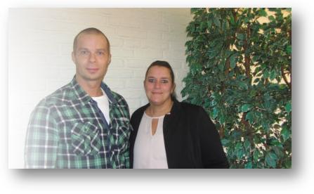 Dirk Zwanenburg en Petra, de oprichters van Lotuz Dagbesteding.