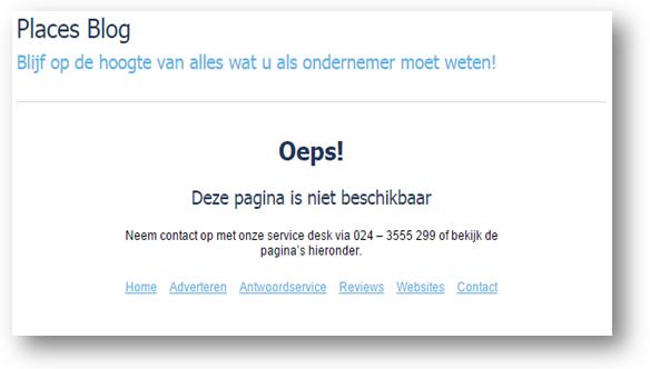 Een aangepaste 404-foutmelding